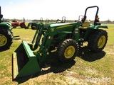 John Deere 5065E MFWD Tractor, s/n 1PY5065ELBB006108: Roll Bar, JD 553 Load