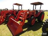Kubota M7040S MFWD Tractor, s/n 43407: Canopy, LA1153 Loader w/ Bkt.