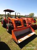 Kubota M7040DT MFWD Tractor, s/n 43408: Loader, Meter Shows 777 hrs