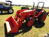 Kubota M6040 MFWD Tractor, s/n 87199: Rollbar, Kubota LA1153 Loader, QC Bkt
