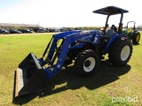 New Holland Workmaster 60 MFWD Tractor, s/n NH5407467: 2-post Canopy, 621TL