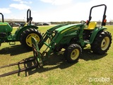 John Deere 4720 MFWD Tractor, s/n H370972: Loader
