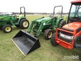 John Deere 4600 MFWD Tractor, s/n LV4600P466006: Front Loader