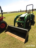 John Deere 4400 MFWD Tractor, s/n LV4400S244891: Loader w/ Bkt.