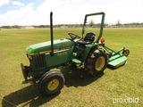 John Deere 770 Tractor, s/n 05958: 2wd, Diesel, w/ JXLX4 Rotary Mower, Mete