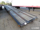 K & T Transport 40' Flatbed Trailer (No Title - Bill of Sale Only): Tail Ro