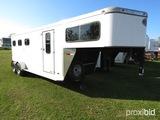2003 Sundowner Sunlite 727 Horse Trailer, s/n 13SVE272231VB8740: 3-horse Sl