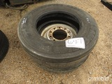 Lot of 295/75/22.5 Tire w/ Rim and 275/80/22.5 Tire