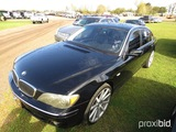 2007 BMW 750Li, s/n WBAHN83587DT76696: Odometer Shows 133K mi.