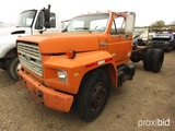 1985 Ford F8000 Cab & Chassis, s/n 1FDXK87U4FVA14782 (Salvage) (Owned by MD