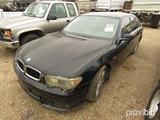2002 BMW 745i Sedan, s/n WBAGL63462DP52057 (Salvage): No Key
