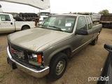 2000 GMC 2500 Pickup, s/n 1GTGC29RXYF462660 (Salvage): Ext. Cab, LWB, Light