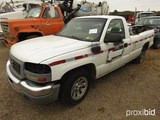 2006 GMC Sierra Pickup, s/n 1GTEC14V46E143215 (Salvage): (Owned by MDOT)