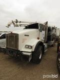 2011 Kenworth T800 Vacuum Truck, s/n 1NKDL00X3BJ279364 (Salvage): T/A, 10-s