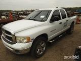2005 Dodge Ram 1500 4WD Pickup, s/n 1D7HU18D85S335514 (Salvage - Salvage Re