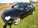 2005 Mercedes C230 Kompressor, s/n WDBRF40J95F662068: 4-door, V6, Leather,