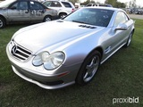 2003 Mercedes SL500 Convertible, s/n WDBSK75F13F030276: Leather, Odometer S