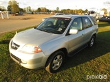 2003 Acura MDX SUV, s/n 2HNYD18233H504281: Odometer Shows 206K mi.