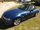 2001 BMW Z3 Convertible, s/n WBACN33431LM00131: 6-cyl., Odometer Shows 124K