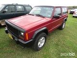 1998 Jeep Cherokee 4WD, s/n 1J4FJ27S2WL164619: 2-door, Odometer Shows 146K