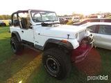 1995 Jeep Wrangler, s/n 1J4FY19P5SP249486