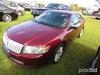 2007 Lincoln MKZ, s/n 3LNHM26T17R629602: 4-door, Odometer Shows 138K mi.