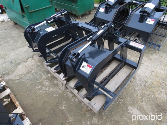 Unused Stout HD72-8 Brush Grapple w/ Skid Steer Quick Attach