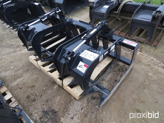 Unused Stout HD72-8 Brush Grapple: Skid Steer Quick Attach