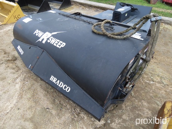 """Bradco Power Sweep 84"""" Sweeper Attachment, s/n 60509 fits Skid Steer"""