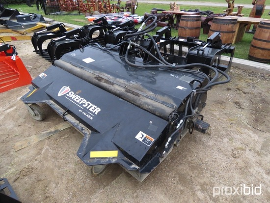 """2016 Paladin 86"""" Broom Attachment, s/n 1613135: fits Skid Steer"""