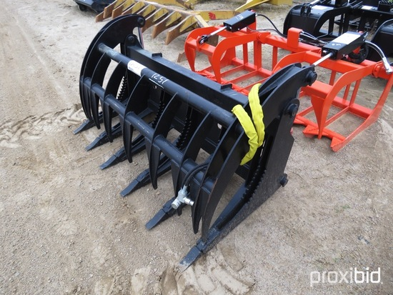 """Heavy-duty 66"""" 2-cylinder Grapple for Skid Steer"""