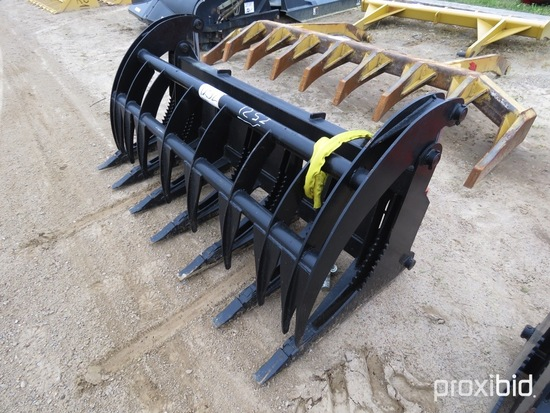 """Heavy-duty 74"""" 2-cylinder Grapple for Skid Steer"""