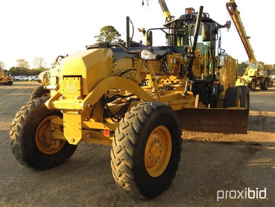 2016 Cat 140M3 Motor Grader, s/n N9M00262: C/A, 14' Moldboard, Hyd. Side Sh