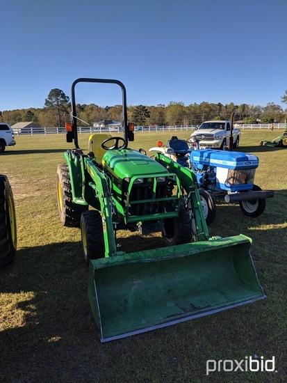 John Deere 3032E MFWD Tractor, s/n 1LV3032EKFH715239: Hydro Stat, Front Loa