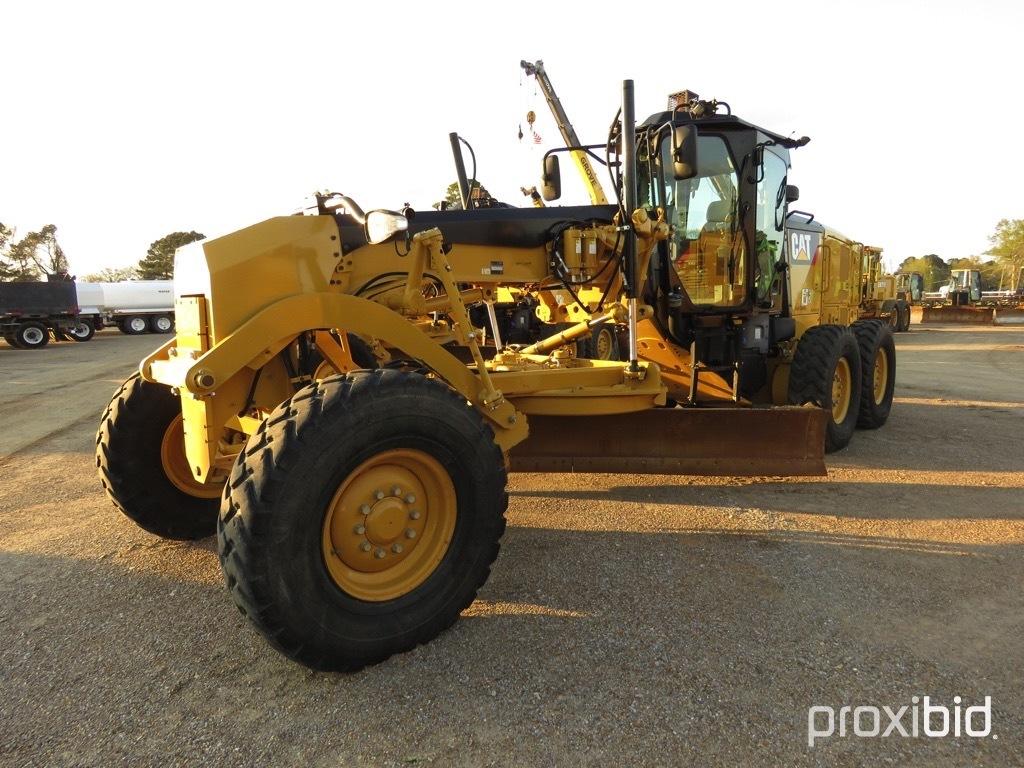 2016 Cat 140M3 Motor Grader, s/n N9M00266: C/A, 14' Moldboard, Hyd. Side Sh