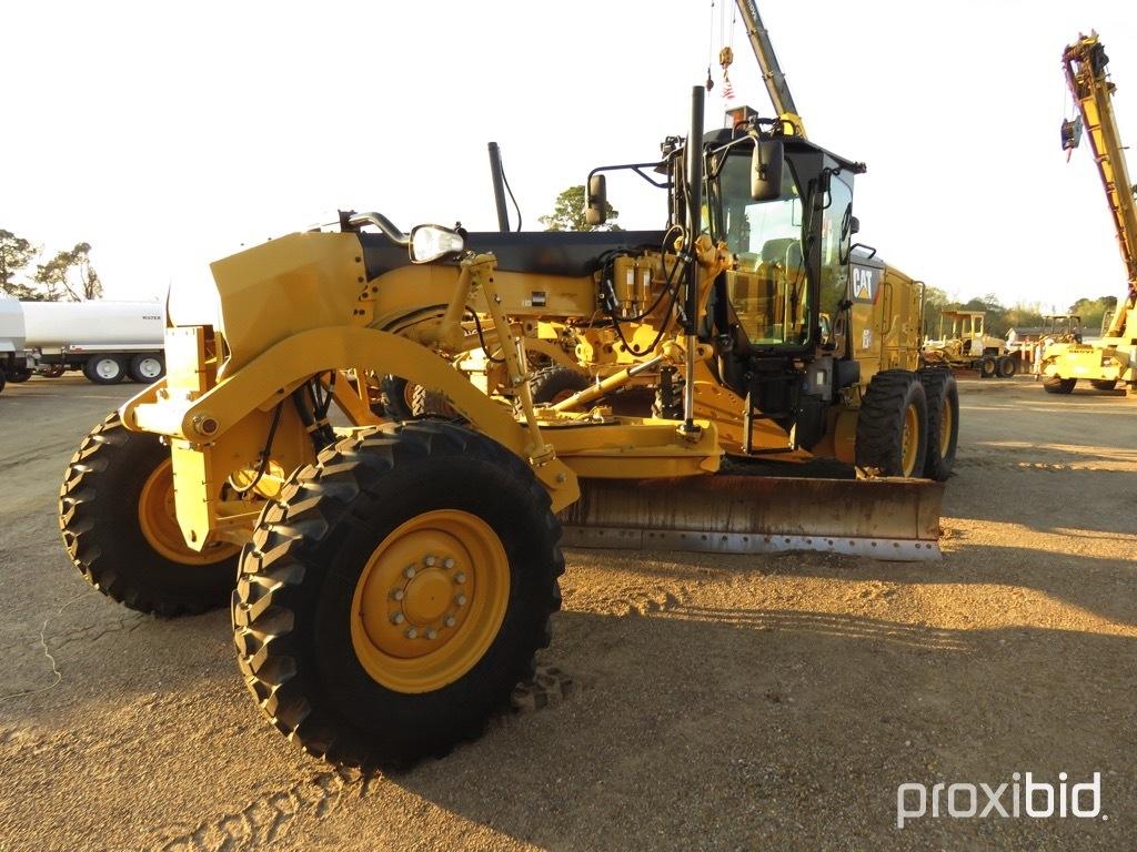 2016 Cat 140M3 Motor Grader, s/n N9M00264: C/A, 14' Moldboard, Hyd. Side Sh