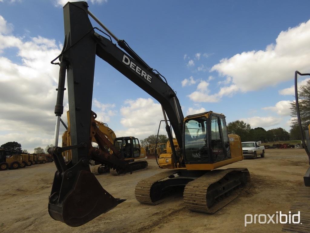 "2008 John Deere 160DLC Excavator, s/n FF160DX050050: C/A, Manual Thumb, 36"""