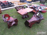 (4) Driftwood Chairs and Table