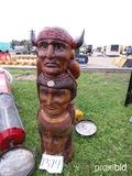 Wood Indian Totem Pole