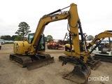 2015 Cat 308E2CR Midi Excavator, s/n FJX01803: Encl. Cab, Hyd. Thumb, 36