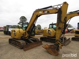2015 Cat 308E2CR Midi Excavator, s/n FJX02150: Encl. Cab, Rubber Tracks, Pu