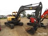 2012 Volvo ECR88 Midi Excavator, s/n 15675: Canopy, Rubber Tracks, Aux Hydr