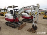 2015 Takeuchi TB230 Mini Excavator, s/n 130000310: Canopy, Aux. Hydraulics,