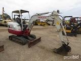 2015 Takeuchi TB230 Mini Excavator, s/n 130000444: Canopy, Aux. Hydraulics,