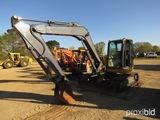 2012 John Deere 85D Midi Excavator, s/n BG016663: C/A, Heat, Push Blade, 22