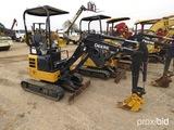 2016 John Deere 17G Mini Excavator, s/n 1FF017GXVFK225588: Canopy, Push Bla