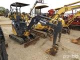 2013 John Deere 17D Mini Excavator, s/n 221827: Canopy, Pilot Controls, Aux