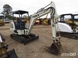 2003 Terex HR16 Mini Excavator, s/n 3683: 4-post Canopy, Blade, Meter Shows