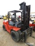 Toyota 7FDU60 Forklift, s/n 60094: Diesel, 10000 lb. Cap.