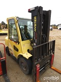 Hyster H80XM Forklift, s/n L005V05826C: Encl. Cab, 7000 lb. Cap., Meter Sho